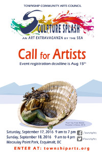 Sculpture Splash poster 2016
