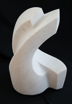 """The Grieving"", 2015, 18″ marble by Mike Cook"