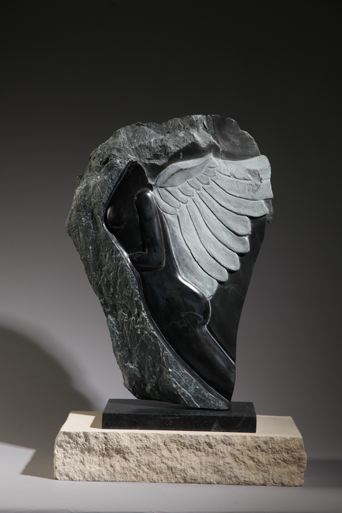 DREAM OF WINGS in British Columbia Chlorite by Penelope Crittenden