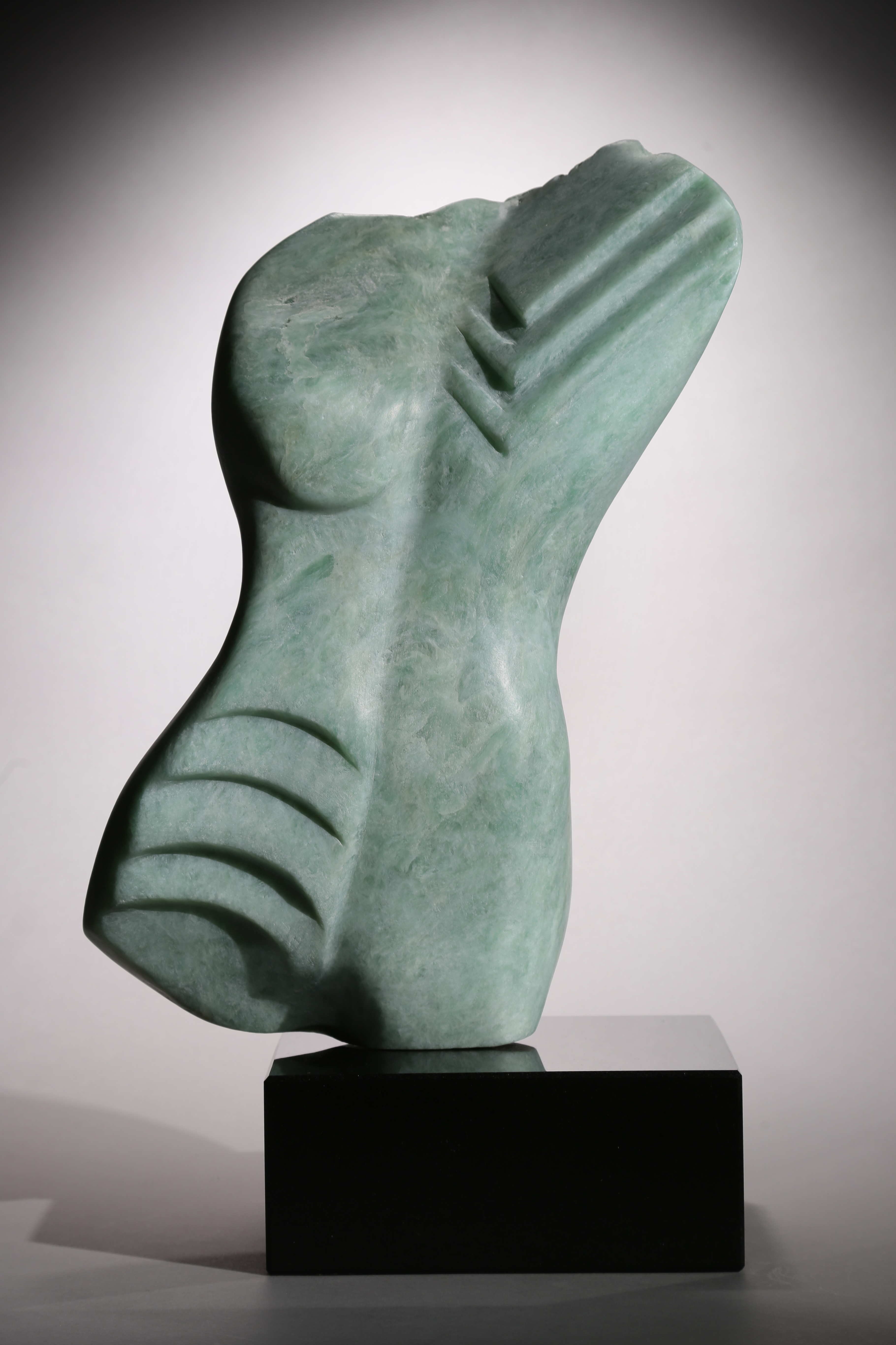 WIND DANCER in Green Soapstone by Penelope Crittenden