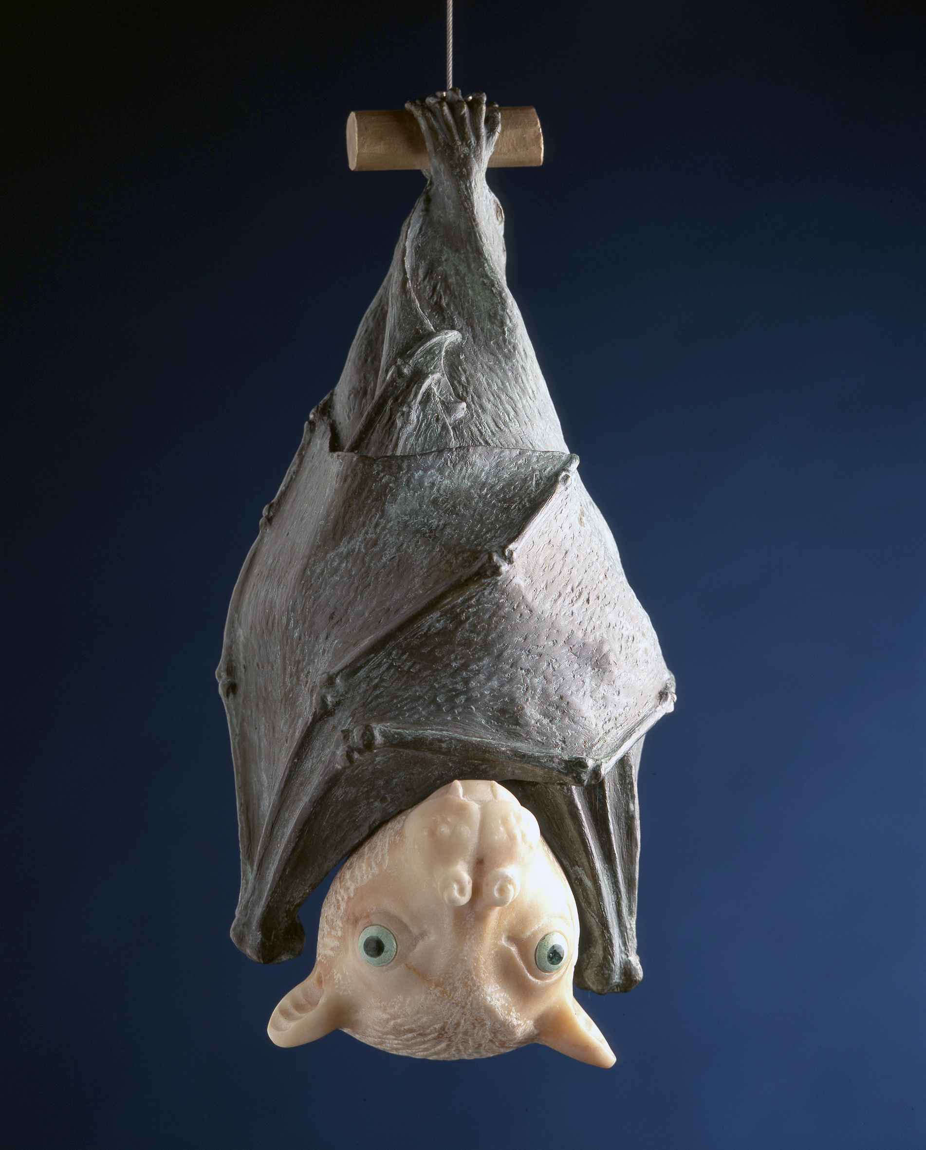 """Tube-Nosed Fruit Bat"", Marble and Bronze"