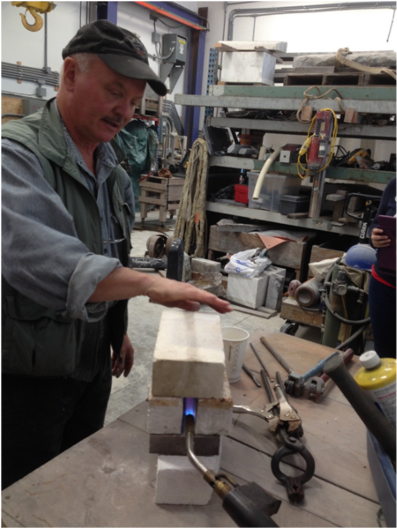 Al Mangold demonstrates his simple and inexpensve chisel forge