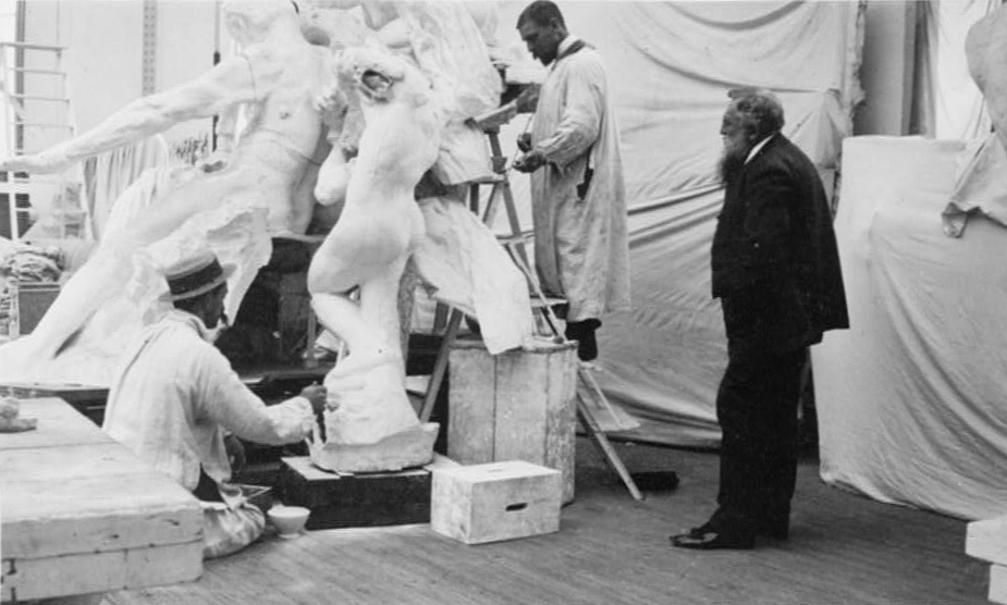 Rodin watching Henri Lebosse making a Rodin