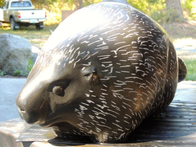 """Porcupine"", 30"" long X 12"" high X 12""wide"