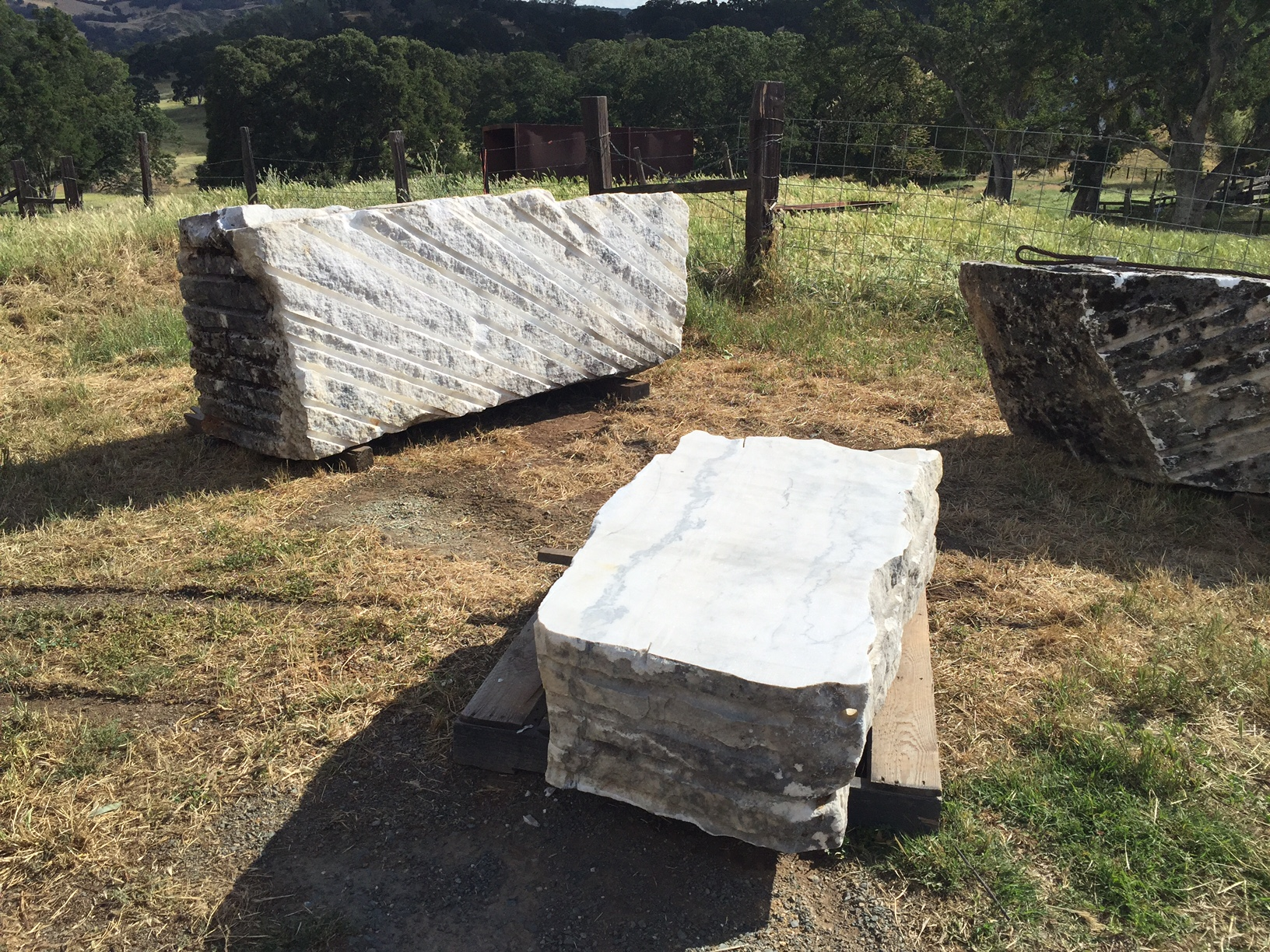 3 of the typical quarry blocks made available to us
