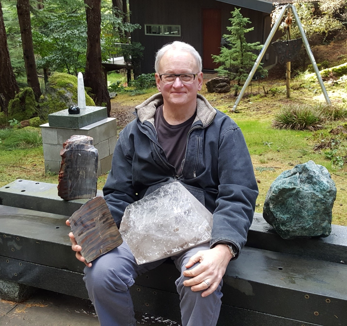 Michael Yeaman holding some treasures