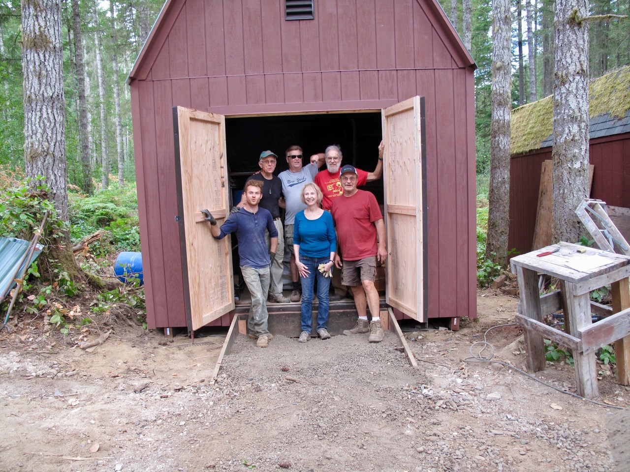The final day, September 12, 2017. The shed is partly loaded, time for a quick photo. Next we will load in the steel tables, and remaining tents and tables. Thanks to Sharon Feeney, Ed Salerno, Steve Sandry, Leon White, Kirk Mclean, and the Boss, Gene Carlson.