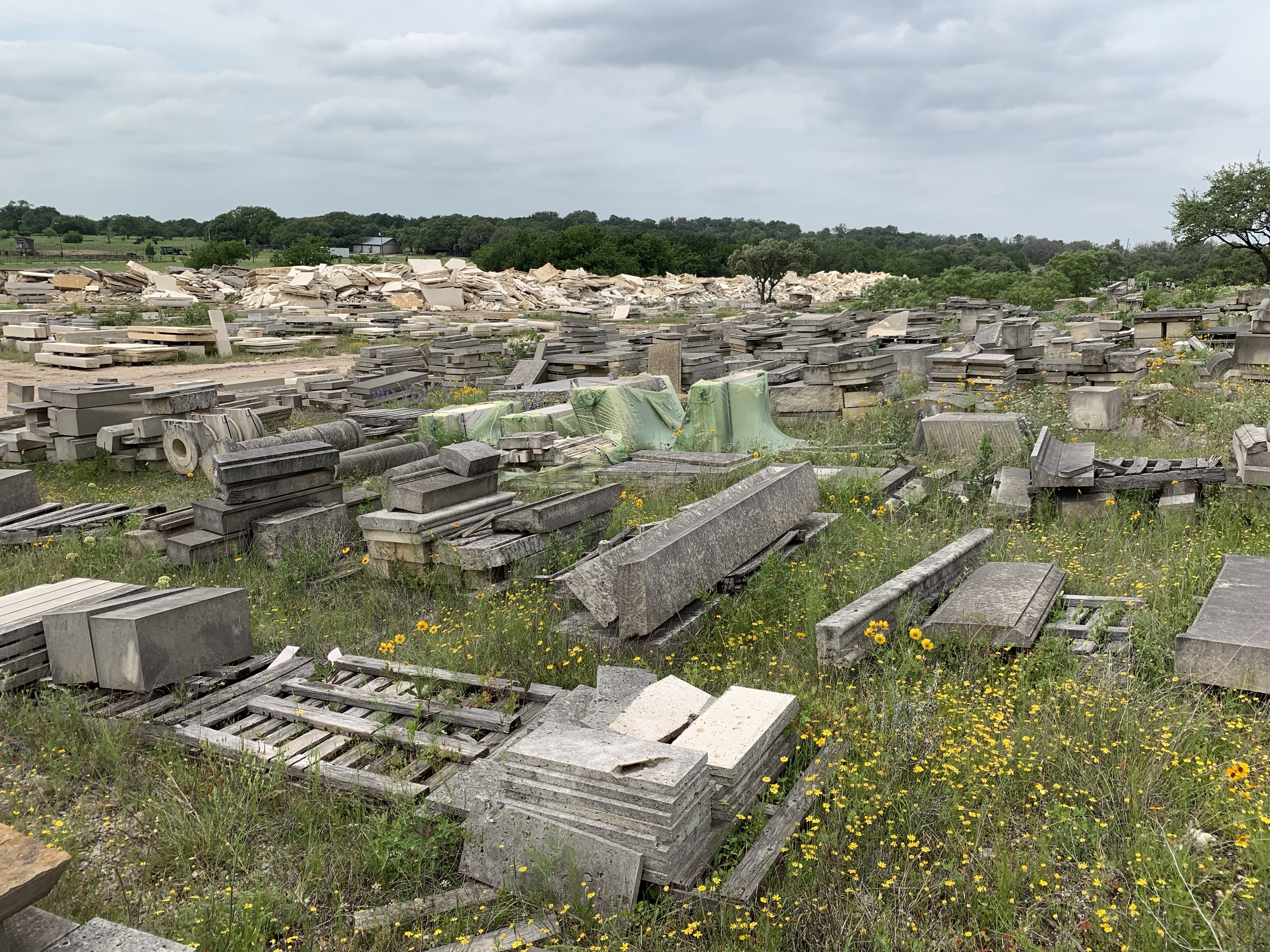 Our visit to the Continental Cut Stone boneyard and this is a small fraction.