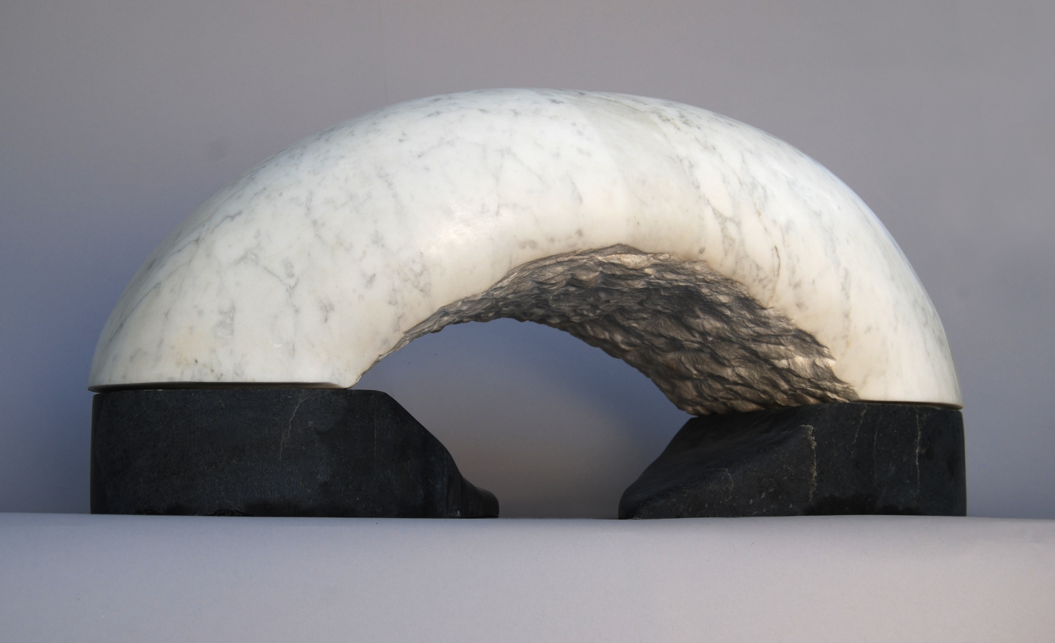 "Ken Barnes ""Stretch"", 24"" X 11"" X 11"", 2013, white marble"