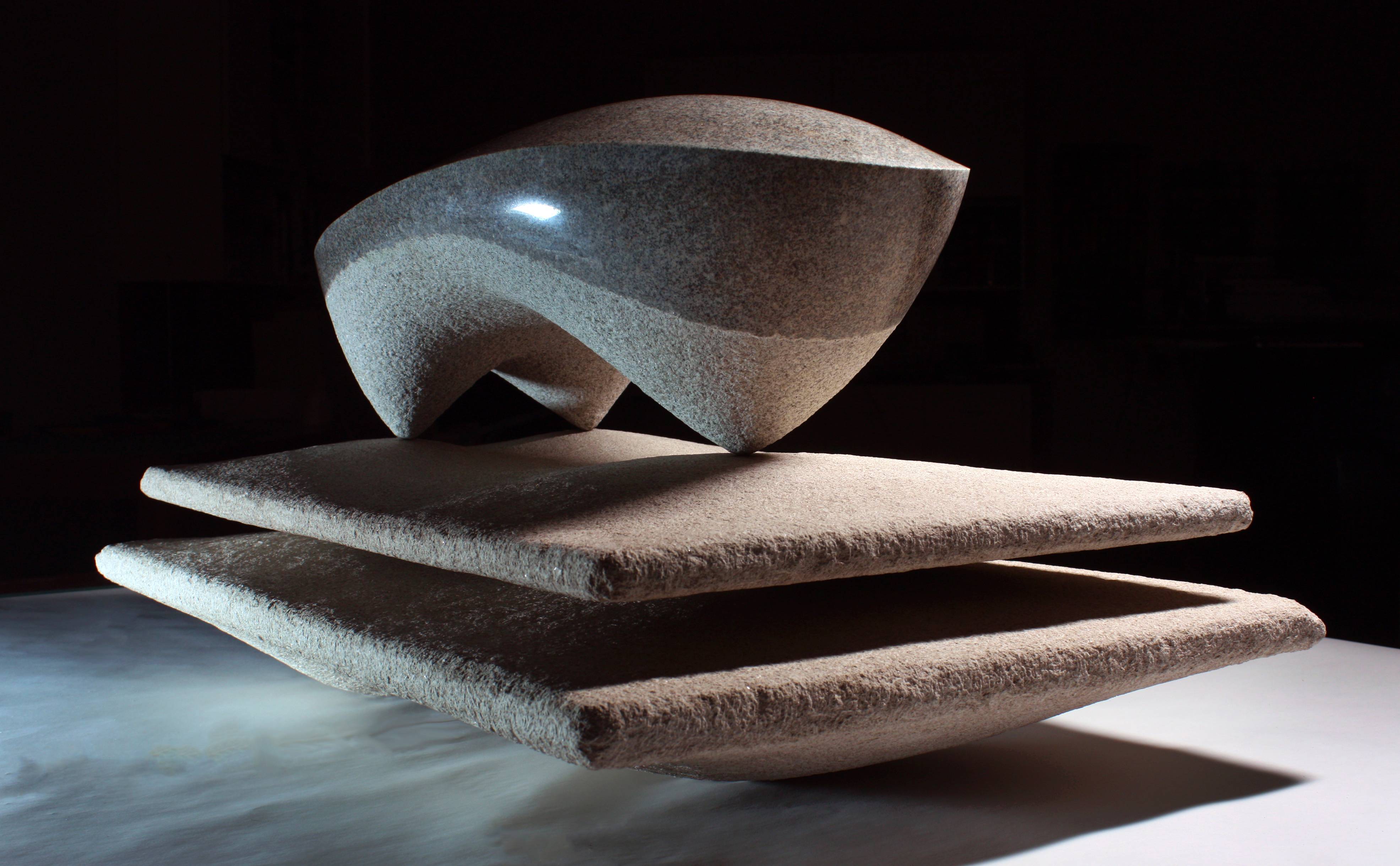 'Altar and Sacrifice' - 2012 - 17 x 26 x 13 Inches - Granite on Indiana Limestone