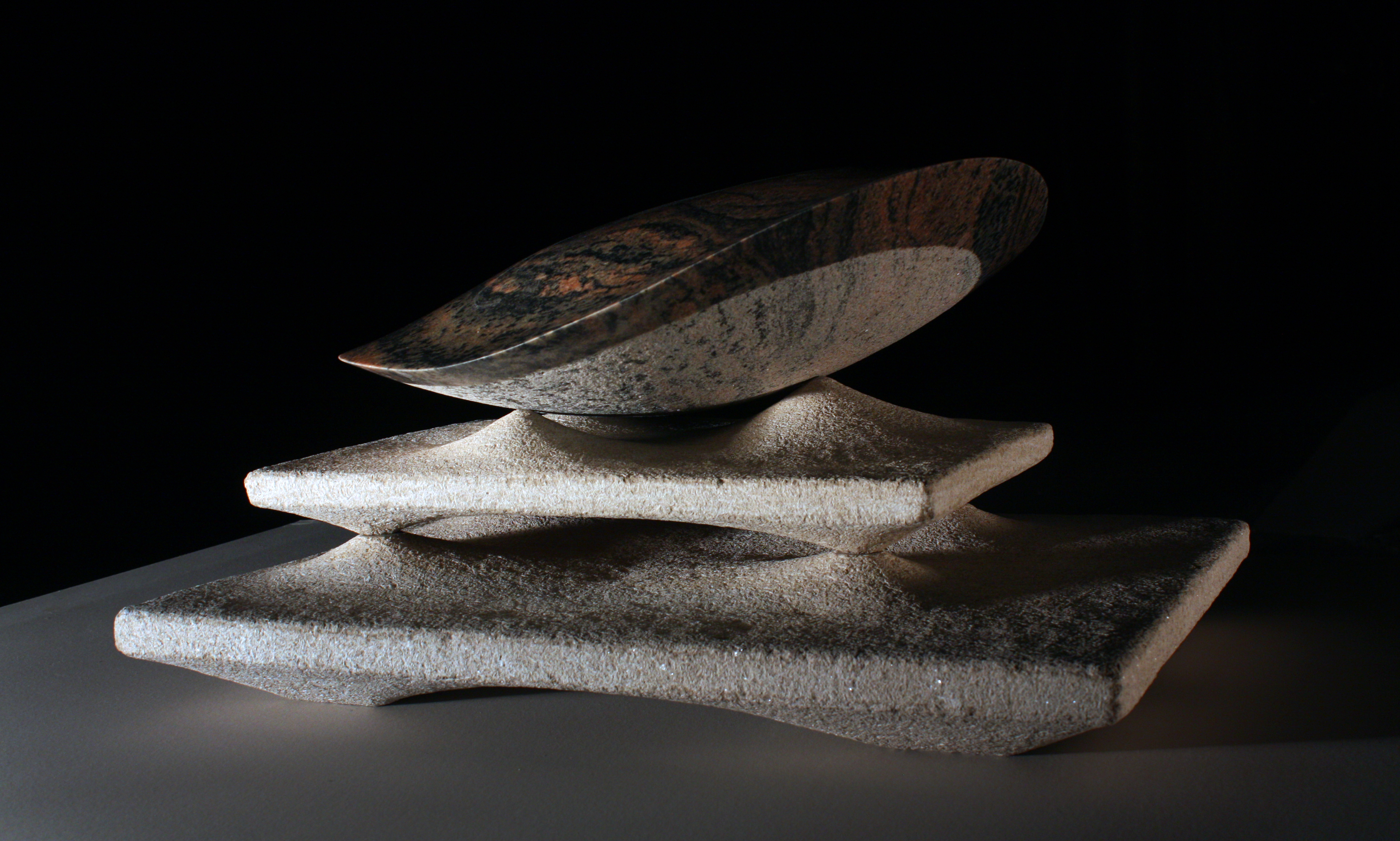 'Nautical Maneuver'  - 2013- 20 X 28 x 16 Inches Morton Gniess on Indiana Limestone