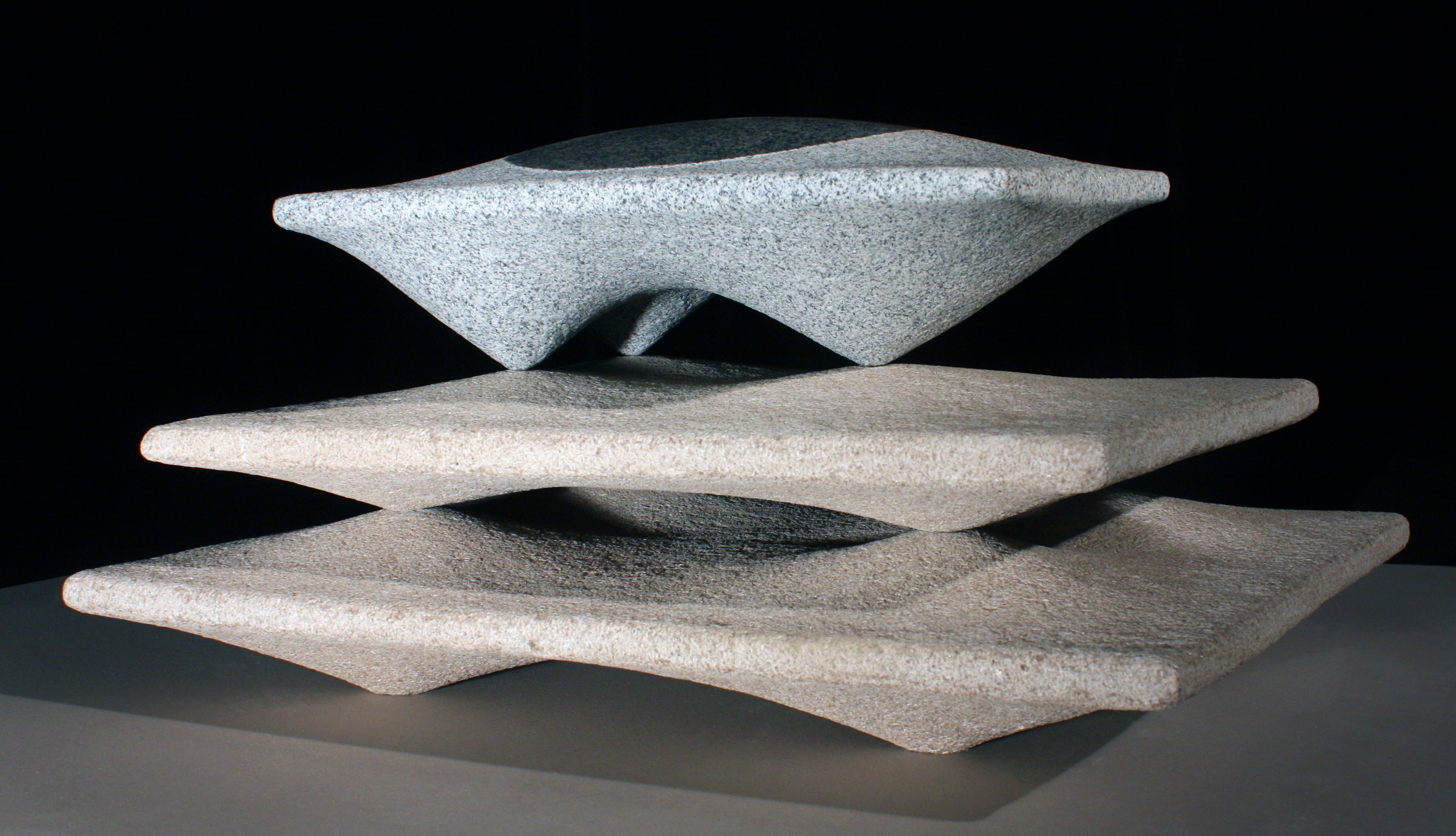 'Tiered Horizon'  - 2013 - 24 x 18 x 12 Inches - Granite on Indiana Limestone