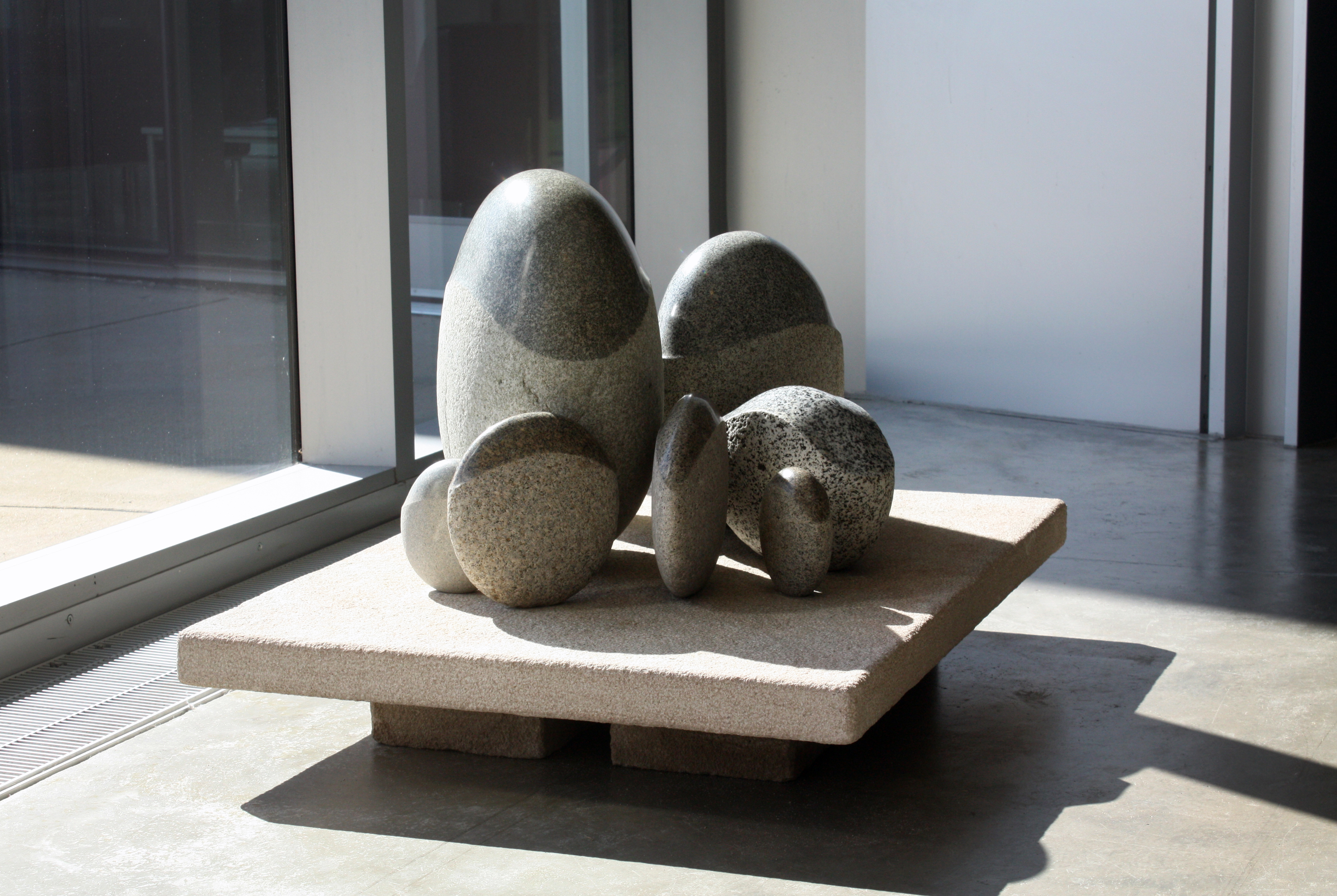 'Tribe of the River and Hills'  - 2012 - 27 x 37 x 24 inches - Skykomish River Granites on Indiana Limestone