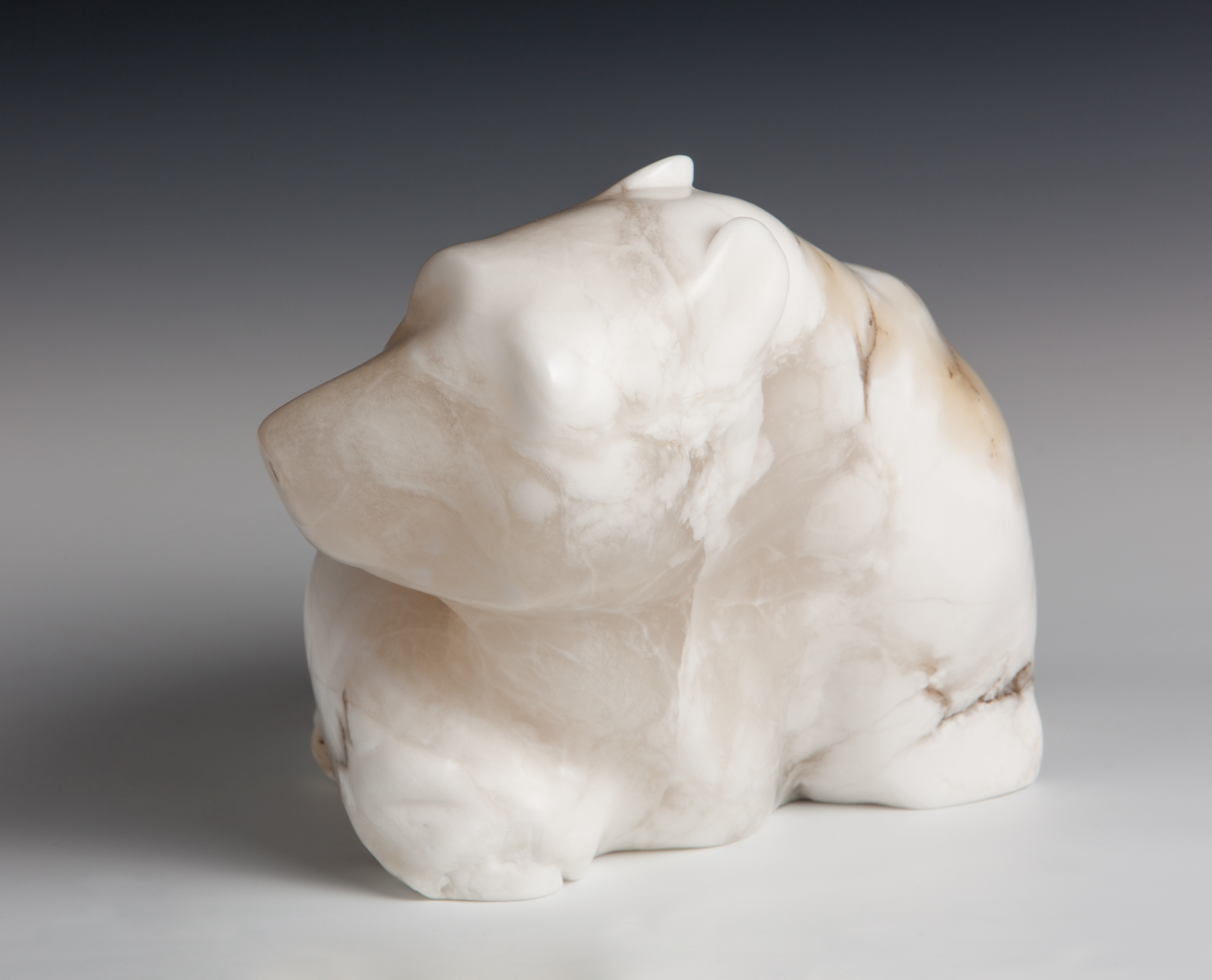 Bear Melting, Alabaster, Bill Weissinger