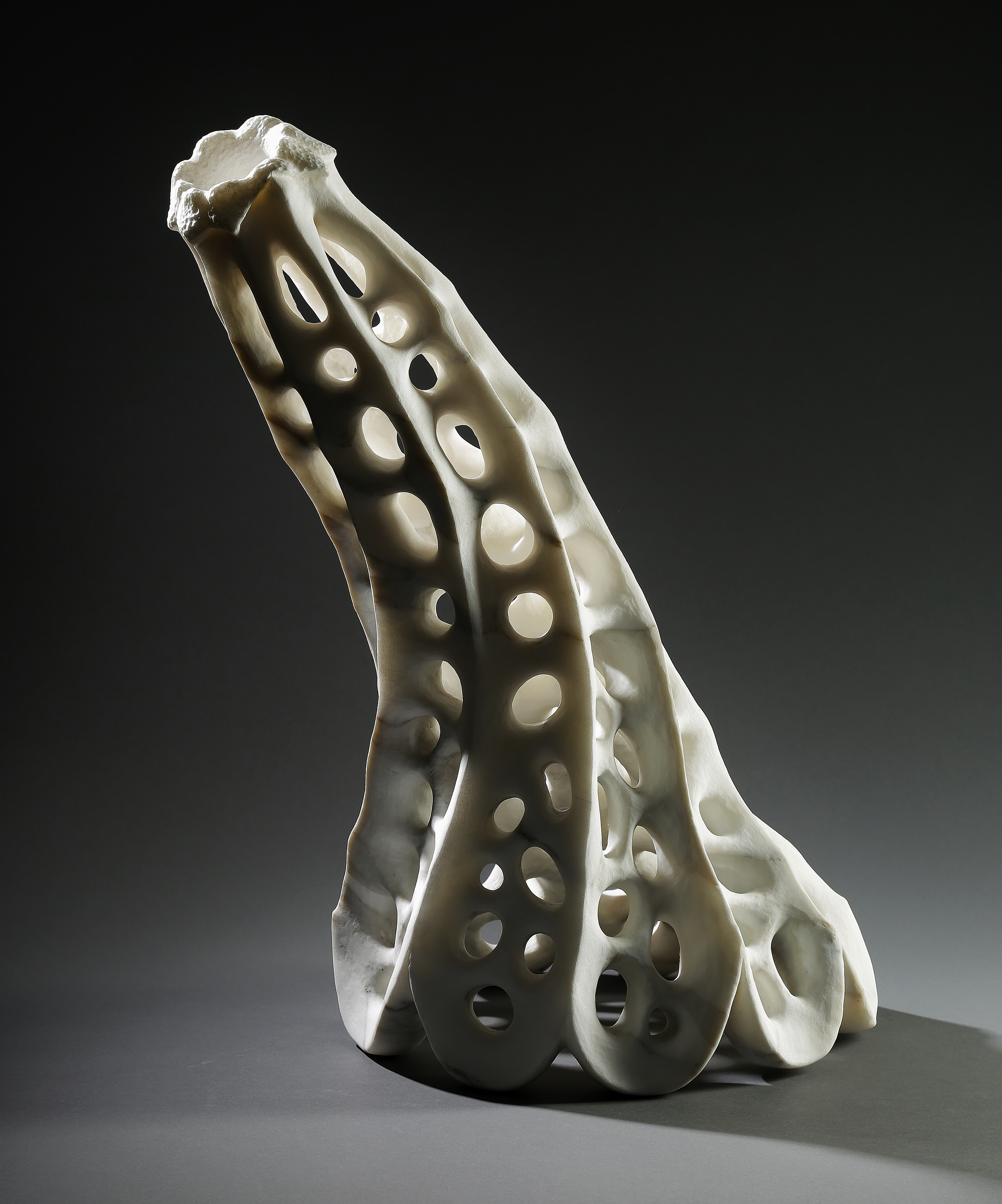 """Cleric"", 21 inches high, Carrara Gold marble, Lane Tompkins"