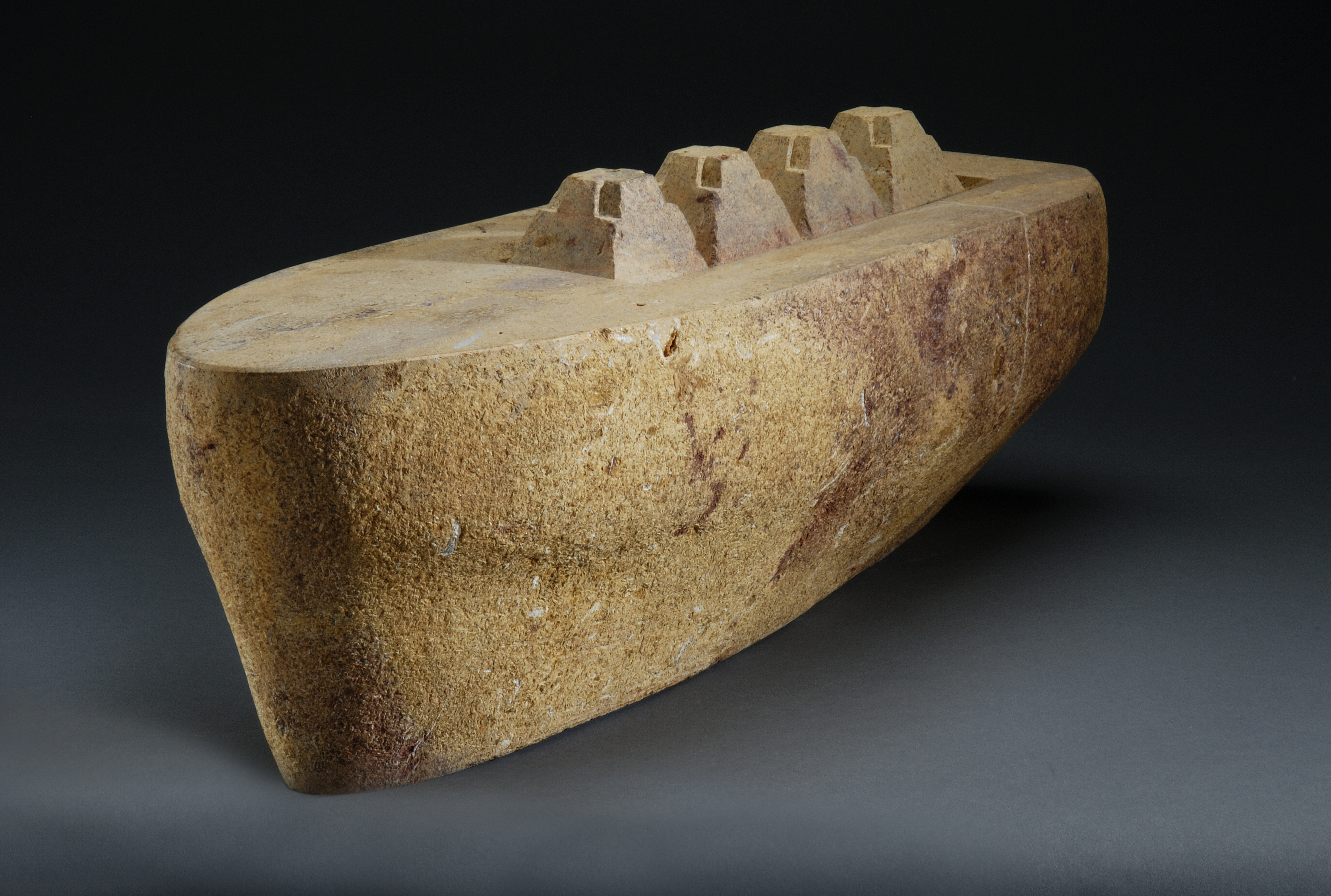 """Lost City"", limestone, 2008, 26"" X 10"" X 8"""