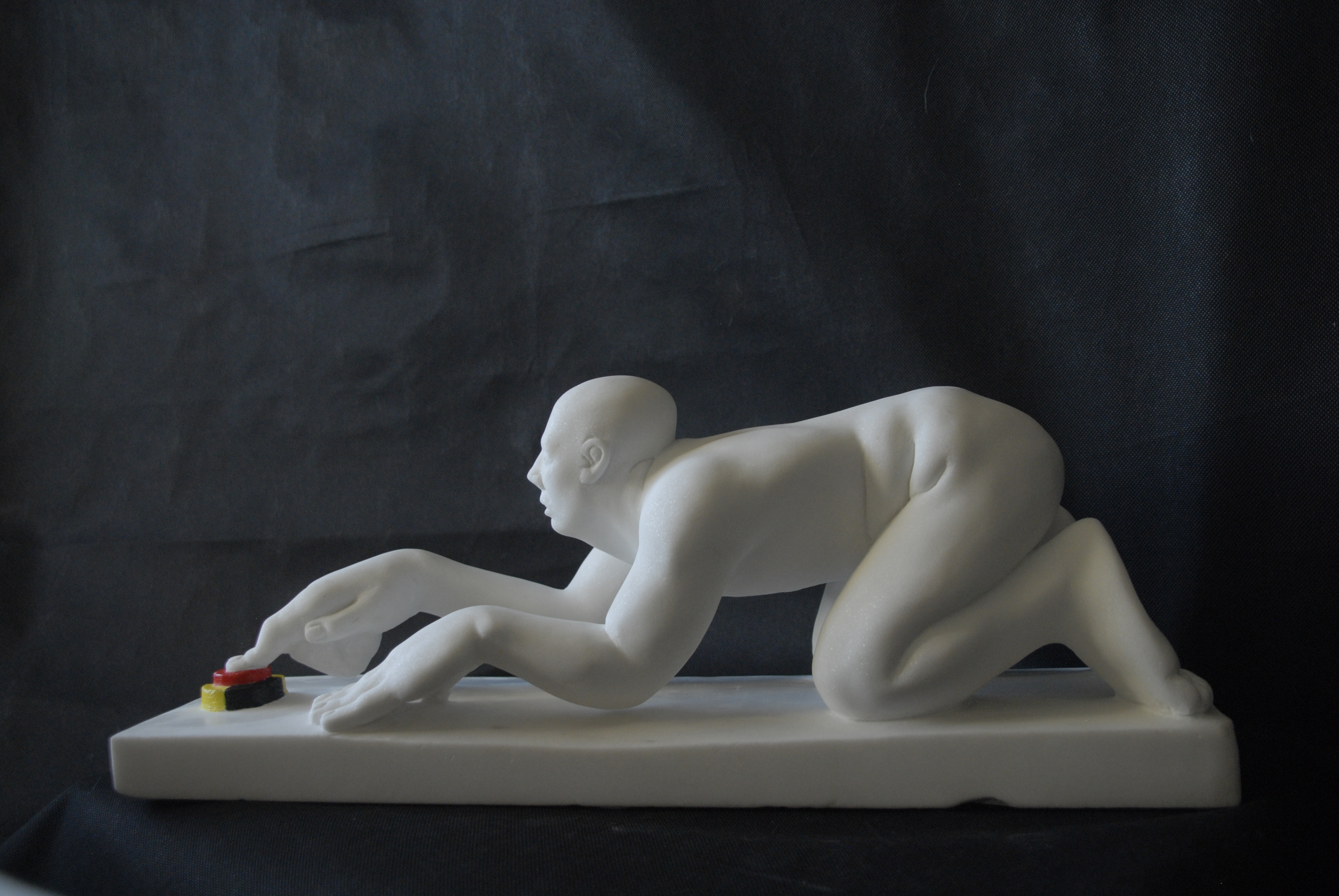"James Horan ""Don't Push The Red Button"" Cevec Marble 50 x 20 x 25hcm 1"