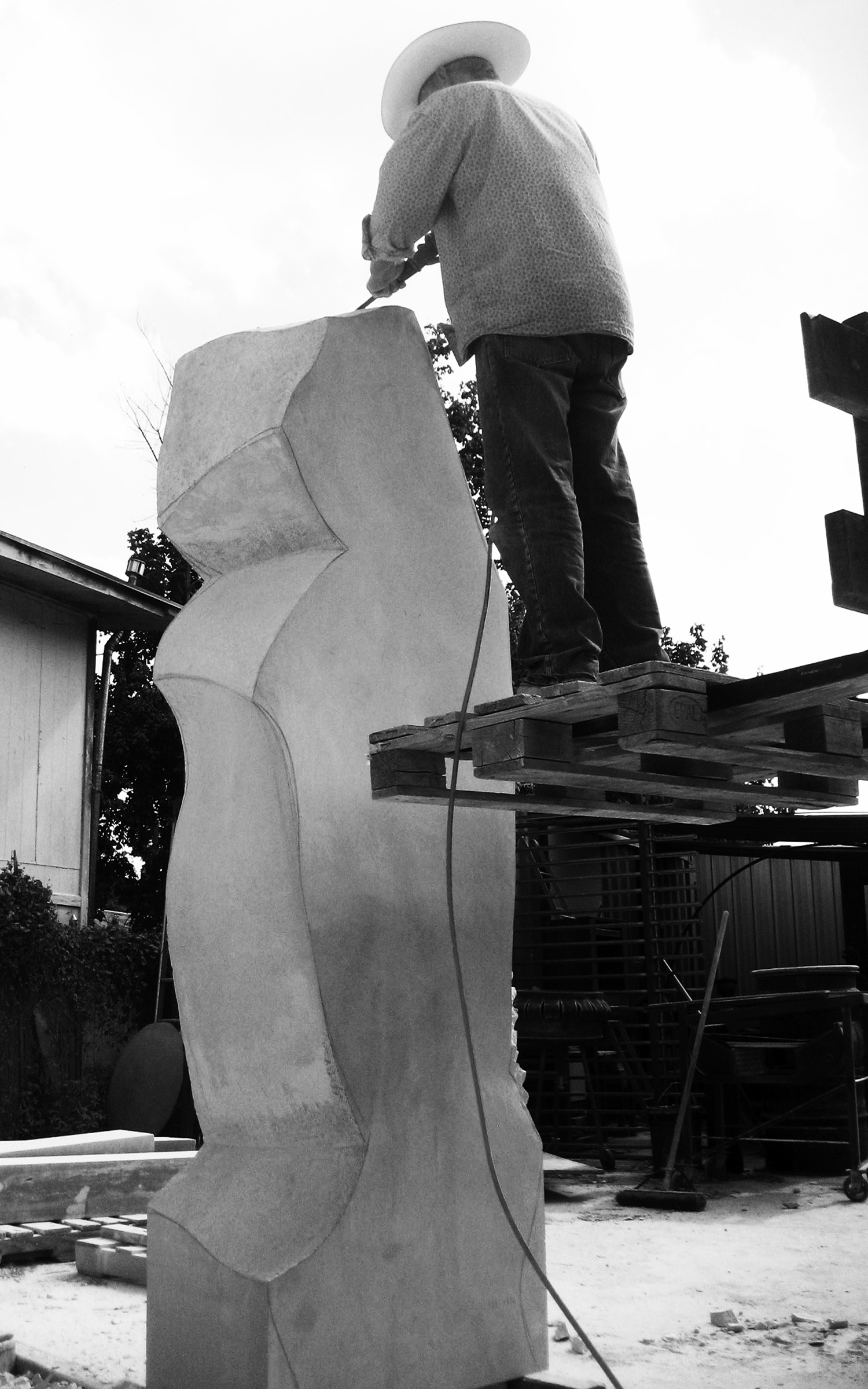 Bill-of-Rights Monument for Arizona Capitol in progress, Amendment #9, 2012 - Photo: Holly Kincannon