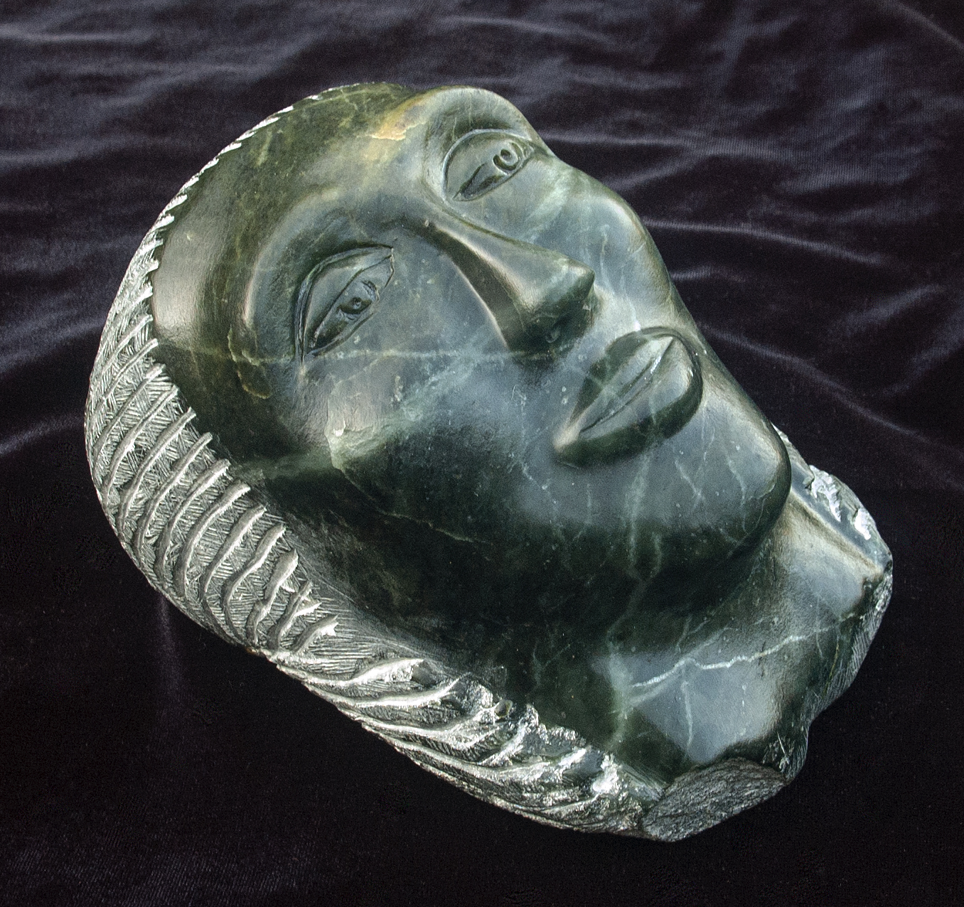 Face soapstone 2019 8x6x5in