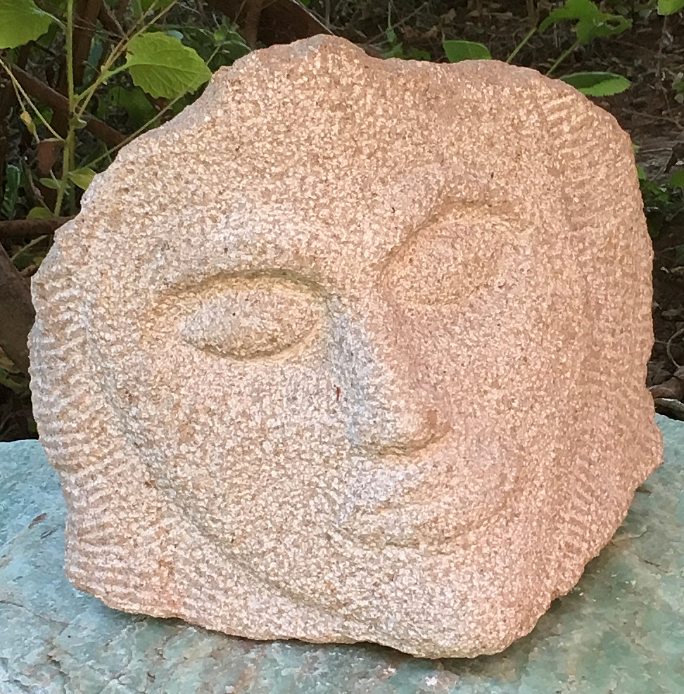Visage 2014 Limestone carved with hand tools