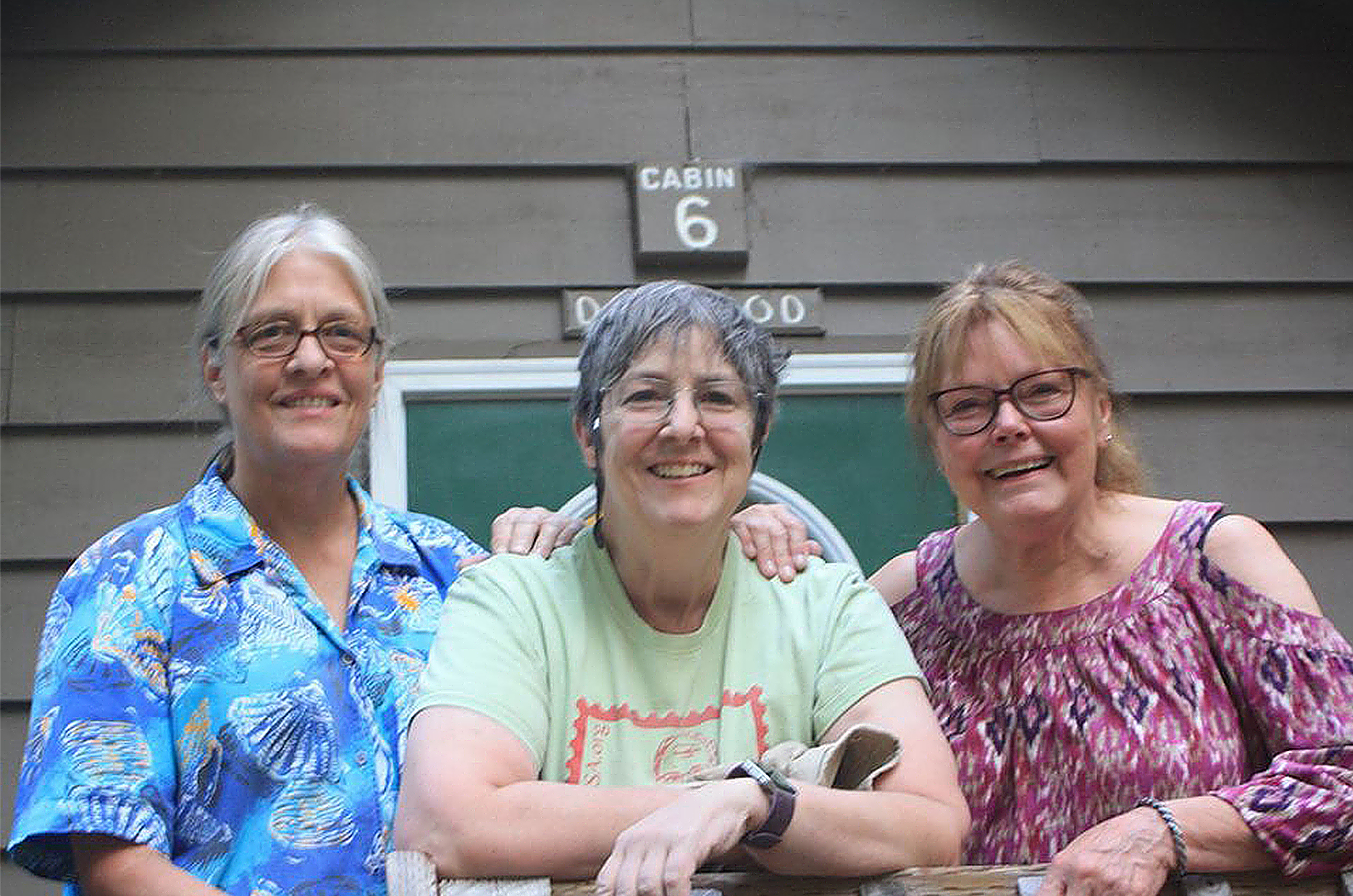 Roommates at Suttle Lake Camp Sheri Tangen and Renda Greene and Sue Quast