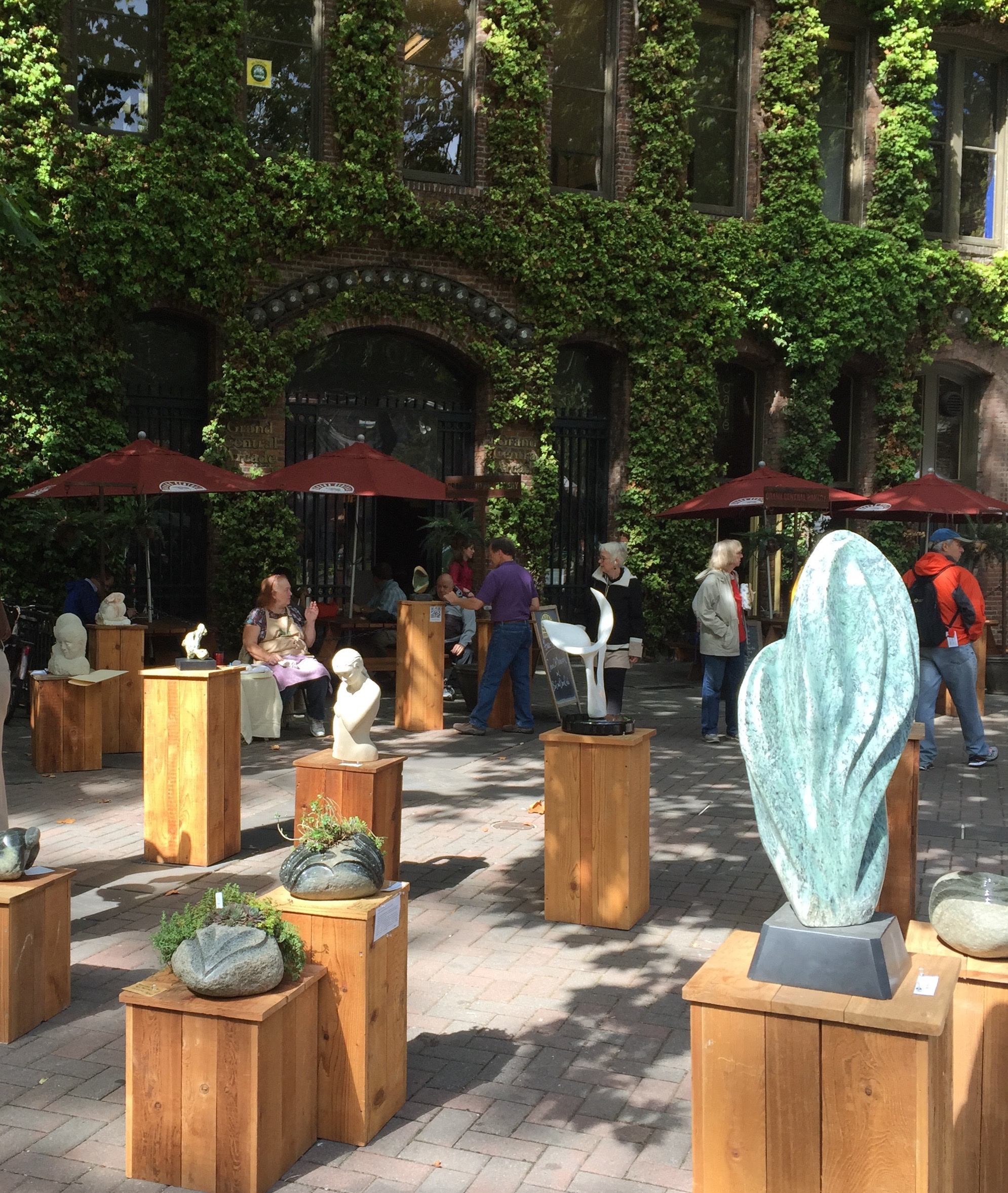 NWSSA sculptures in Occidental Park