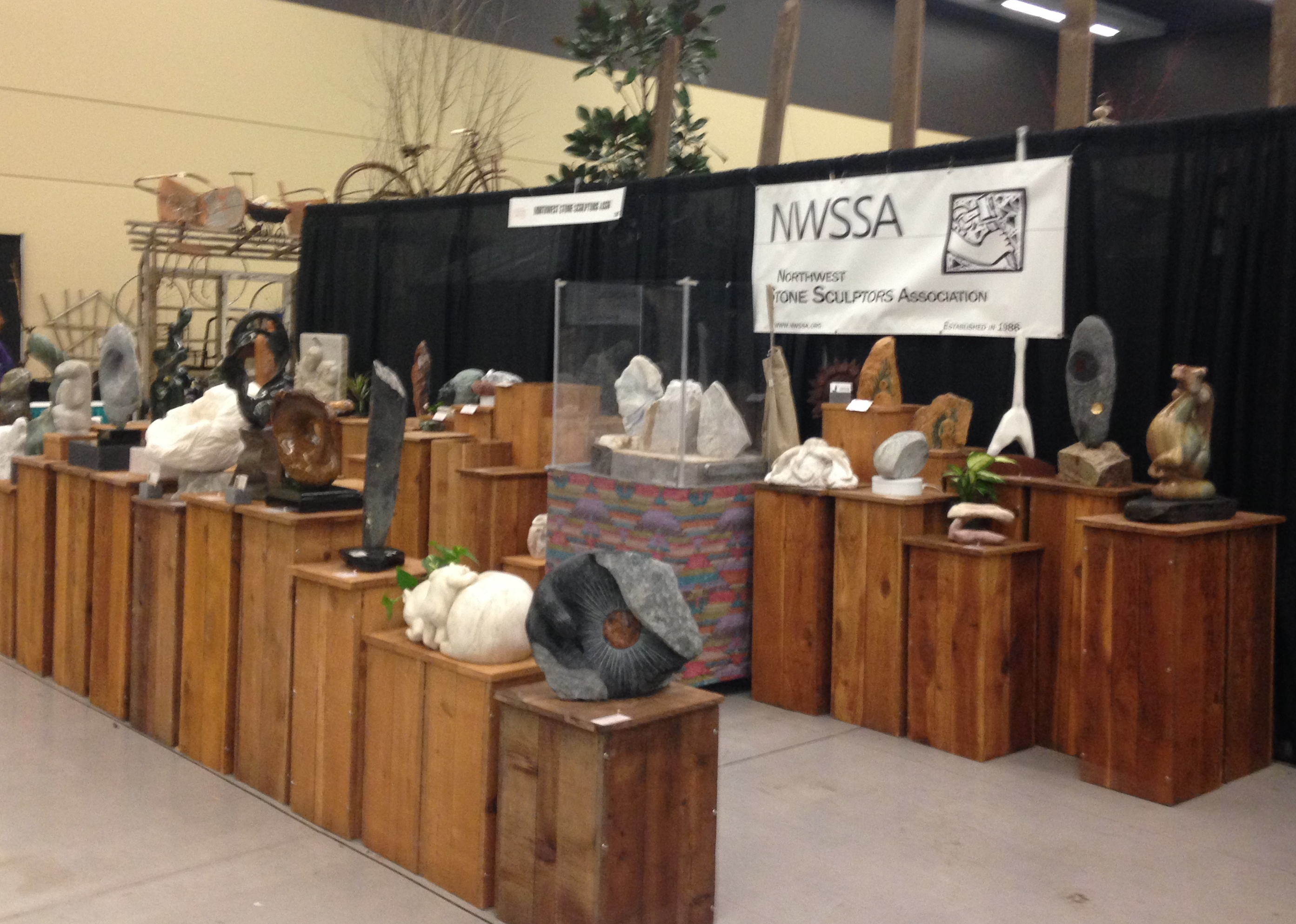 NWSSA's 2018 booth at the Northwest Flower & Garden Show Festival.
