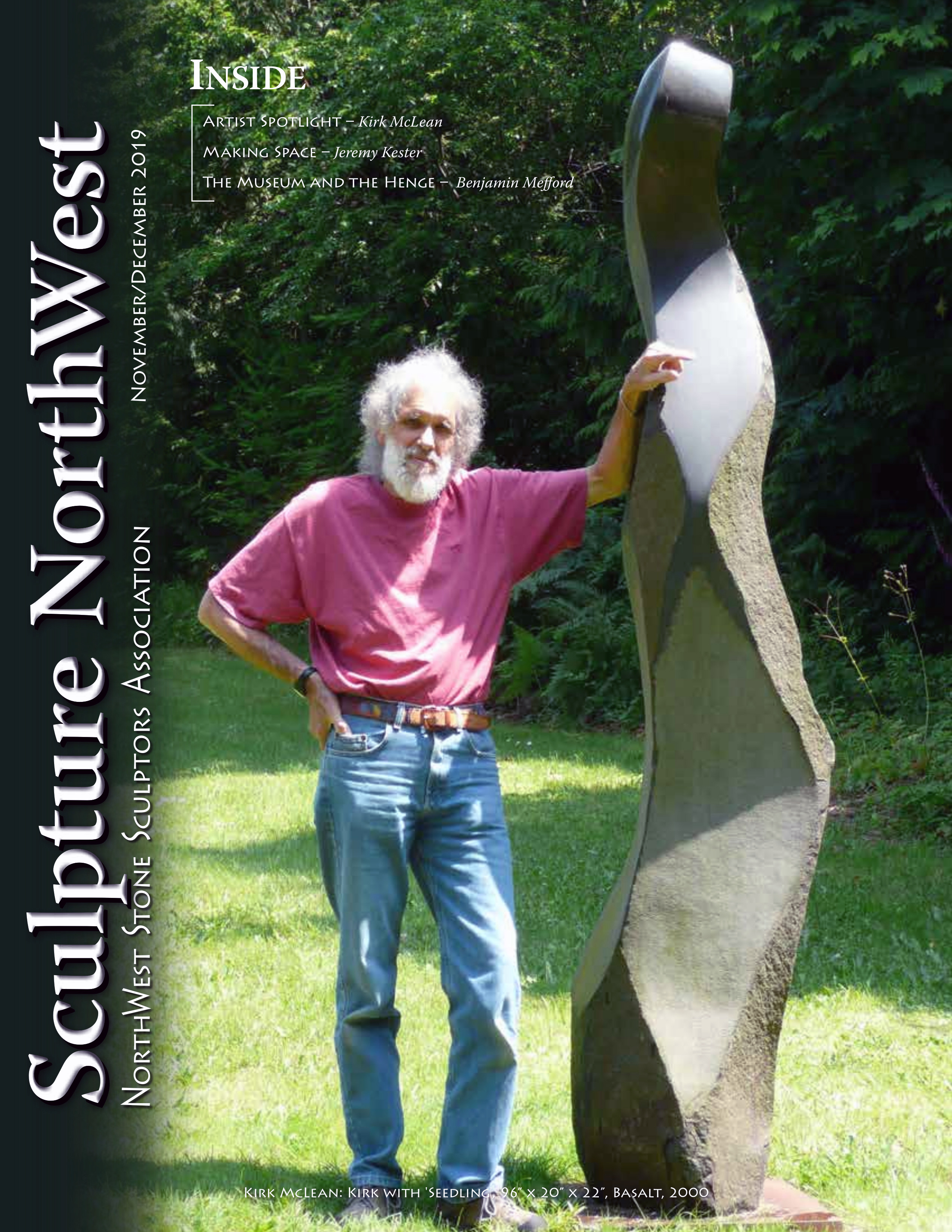 November December 2019 Sculpture Northwest Journal Cover