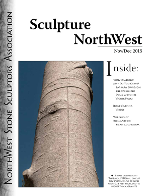 cover Sculpture Northwest 2015 Nov-Dec Issue