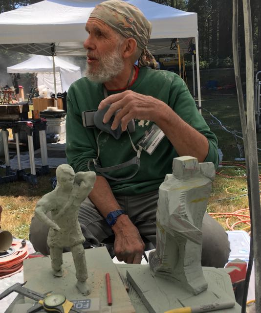 Stone carver Kirk McLean, photo by Cate Gable