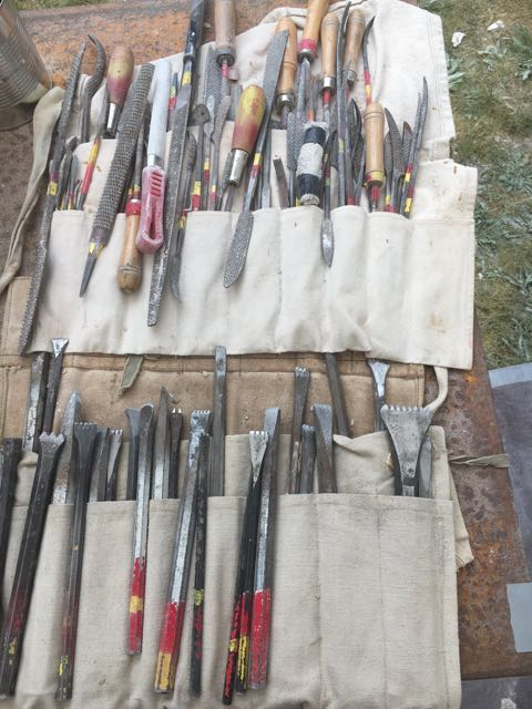 Stone Carving tools, phot0 by Cate Gable