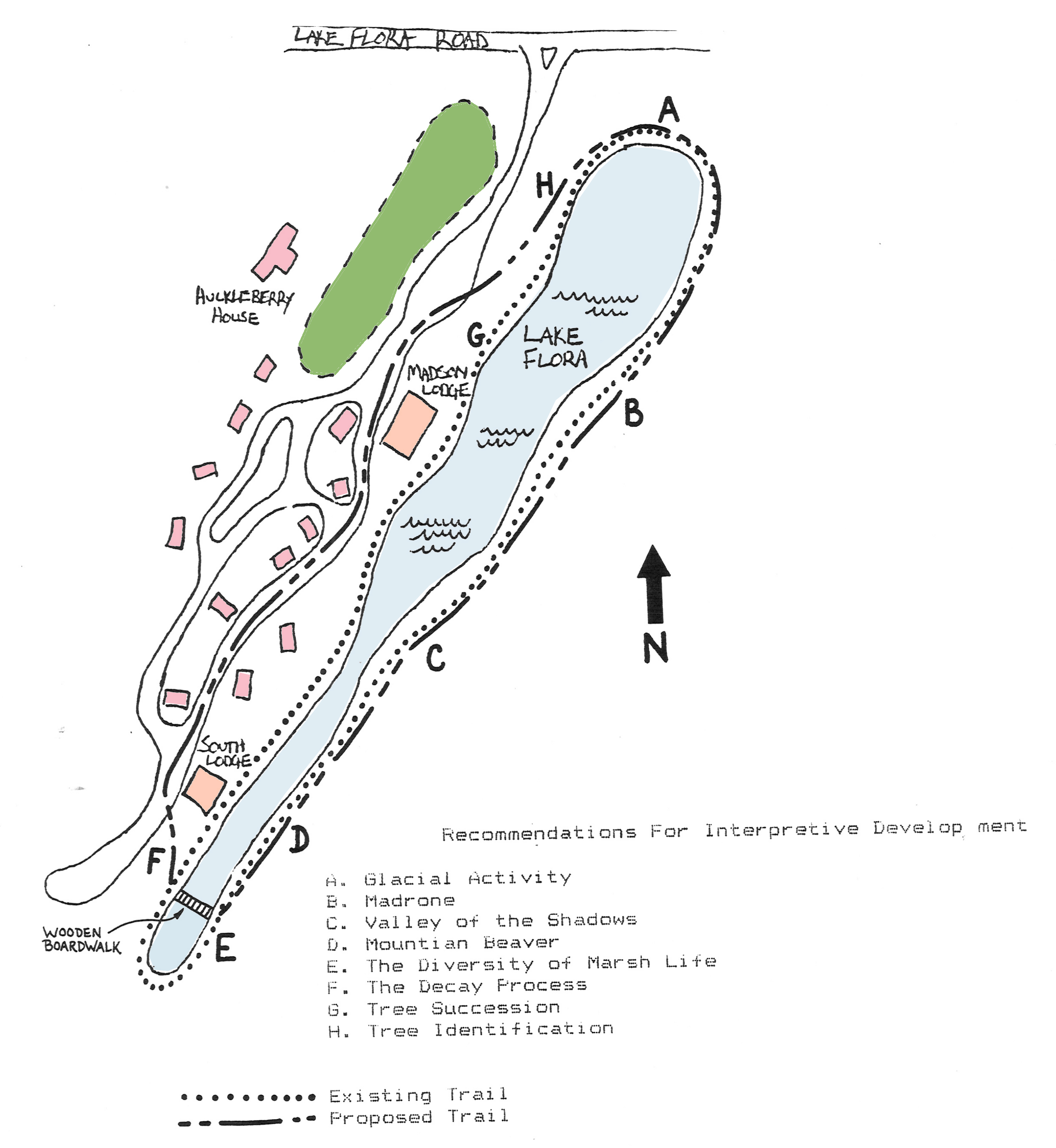 Lake Flora Trail Map