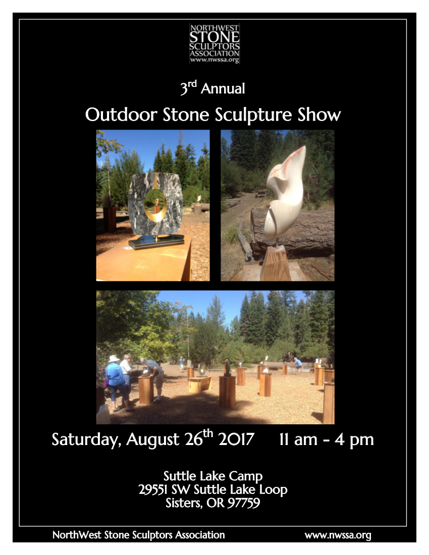 NWSSA Outdoor Stone Sculpture Show Poster