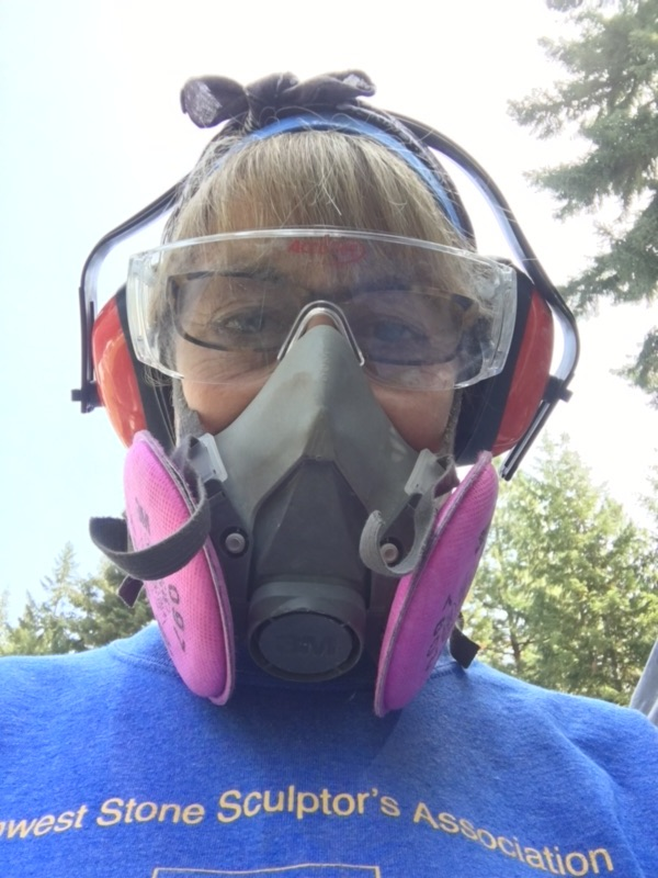 Heidi Temko wearing safety gear